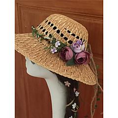 Women's Fabric Headpiece-Wedding  Wreaths 1 Piece Purple / Blue / Pink / Champagne Flower 50CM