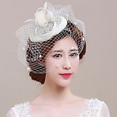 Mulheres Tule Linho Capacete-Casamento Ocasião Especial Fascinador Véus de Rede 1 Peça