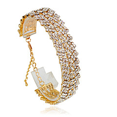 Bracelet Tennis Bracelet Alloy Circle Fashion Wedding Jewelry Gift Gold / Silver,1pc