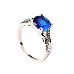 Feminino Maxi anel Moda bijuterias Zircão Esmeralda Liga Jóias Para Festa Diário Casual