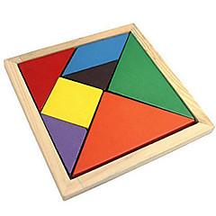 Tangram Jucării Educaționale Puzzle Puzzle Lemn Plin de Culoare Clasic Băieți Fete 7