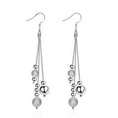 Ohrring Linienform Schmuck 1 Paar Sexy / Modisch / Stil Hochzeit / Party / Alltag / Normal Sterling Silber Damen Silber