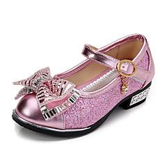 Para Meninas-Sapatos de Barco-Conforto / Arrendondado-Salto Baixo-Rosa / Prateado / Dourado-Couro Ecológico-Social