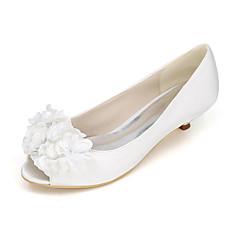Women's Heels Spring / Summer / Fall Peep Toe Silk Wedding / Party & Evening