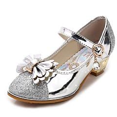 Ballerine-Matrimonio Formale Casual Serata e festa-Comoda Light Up Shoes-Piatto-Sintetico-Rosa Argento Dorato