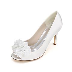 נשים-עקבים-דמוי עור-עקבים / נעלים עם פתח קדמי-כחול / סגול / אדום / שנהב / לבן / כסוף / שמפניה-חתונה / מסיבה וערב-עקב סטילטו