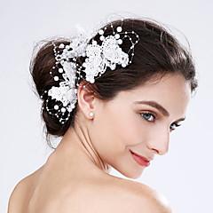 Ženy Krajka Akryl Umělá hmota Přílba-Svatba Zvláštní příležitost Květiny 3 kusy