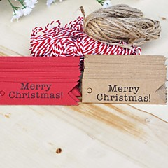 Tuin Thema / Vintage Theme-Labels / Tags(Bruin / Rood,HardKaart Paper