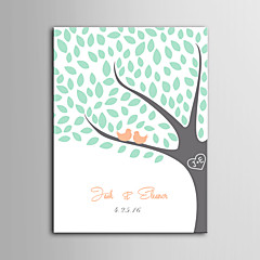 E-HOME®  Personalized Signature Canvas invisible Frame Print - Birds On The Tree
