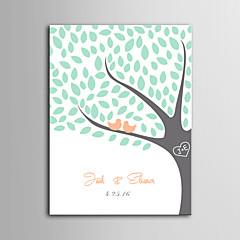 הדפסת דואר home® בד חתימה אישית מסגרת בלתי נראית - ציפורים על העץ