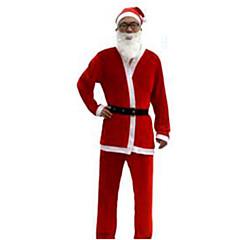 Festival/Sărbătoare Costume de Halloween Roșu Solid Vârf / Pantaloni / Centură / Pălării/Căciuli Crăciun Bărbătesc Pluș