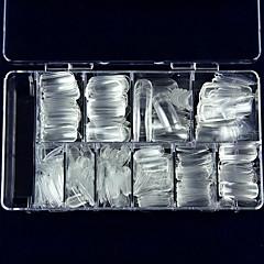 søm et stykke ks super klar fuld af kunstige negle krystal falsk søm halvt 100 stykker af post søm kasse