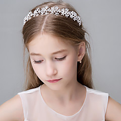 Vrouwen Bergkristal Kristallen Roestvrij Staal Imitatie Parel Titanium Papier Helm-Bruiloft Speciale gelegenheden Informeel Kantoor &