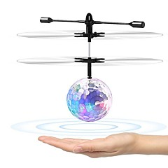 Creative Fashion Novelty Colorful Infrared Induction Suspension Transparent Crystal Ball Floating Flying Gadget Toy