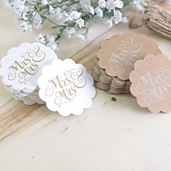 Gay wedding gift Rustic Theme Stickers Labels & Tags-100 Piece/Set Labels / Tags / Stickers White / Brown