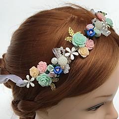 Vrouwen Tule Licht Metaal Acryl Helm-Bruiloft Speciale gelegenheden Informeel Hoofdbanden Bloemen 1 Stuk