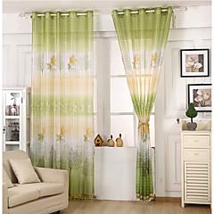 Ein Panel Window Treatment Modern , Blatt Kinderzimmer Poly /  Baumwollmischung Stoff Gardinen Shades Haus Dekoration For Fenster