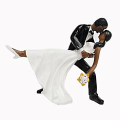 Tortadísz Nem személyre szabott Klasszikus pár Gyanta Esküvő / Évforduló / Menyasszonyköszöntő / Születésnap FeketeTengerparti téma /