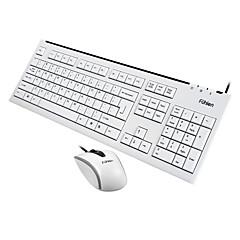 rato escritório USB 1000dpi teclado escritório USB Fuhlen L600