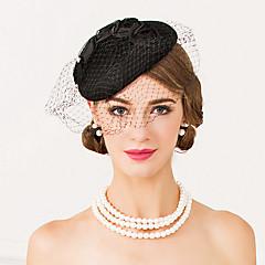 Women's Wool / Net Headpiece-Wedding / Special Occasion / Casual Fascinators / Hats 1 Piece