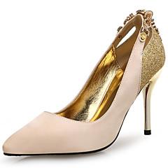 נשים-עקבים-עור נצנצים מיקרופייבר-חדשני-שחור זהב-חתונה משרד ועבודה שמלה-עקב סטילטו