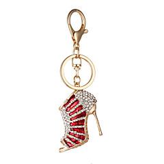 han edição de moda diamante criativo dom cadeia saco de chaveiro pingente de chave do carro bonito saltos