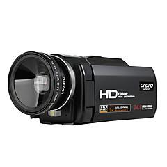 ordro® HDV-f5 med vidvinkel linse 1080p videokamera eksternt batteri støtte makro-funksjon