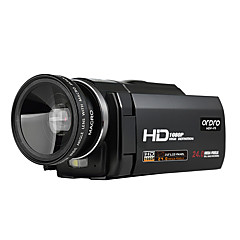 ordro® HDV-f5 laajakulmaobjektiivi 1080p digitaalisen videokameran ulkoinen akku tukea makrotoiminto