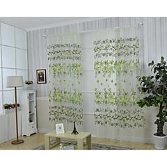 Ein Panel Window Treatment Rustikal , Blume Wohnzimmer Polyester Stoff Vorhänge drapiert Haus Dekoration For Fenster