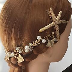 נשים סגסוגת / אקרילי כיסוי ראש-חתונה / אירוע מיוחד / קז'ואל סרטי ראש / מסרקי שיער / פרחים / תפסים לשיער חלק 1