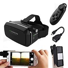 óculos de realidade virtual com mini lente da câmera 3D fazem jogo de filme em 3D para o smartphone com gamepad com presente OTG android