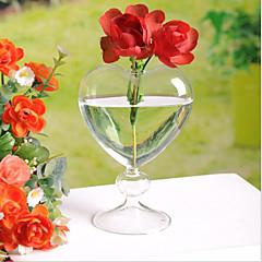 Creative Heart Vase Heart-Shaped Vase Desktop Vase Hydroponic Plant Vase