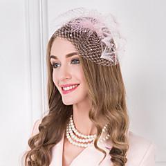 נשים נוצה דמוי פנינה רשת כיסוי ראש-חתונה אירוע מיוחד קז'ואל סרטי ראש קישוטי שיער חלק 1