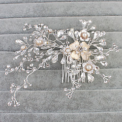 Vrouwen Bergkristal Licht Metaal Helm-Bruiloft Speciale gelegenheden Informeel Kantoor & Cariere Buiten Haarkammen 1 Stuk