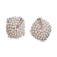 אבני מזלות תכשיטי יוקרה פנינה חיקוי יהלום Geometric Shape לבן צבע מסך תכשיטים ל