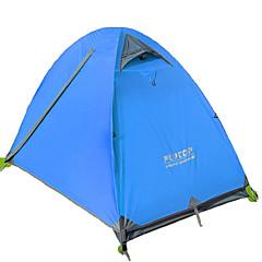 FLYTOP 2 사람 텐트 더블 베이스 캠핑 텐트 원 룸 백패킹 텐트 따뜨하게 유지 수분 방지 통풍 잘되는 방풍 비 방지 폴더 통기성 용 하이킹 캠핑 여행 >3000mm CM