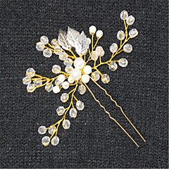 Women's Crystal Leatherette Headpiece-Wedding Special Occasion Hair Pin 1 Piece