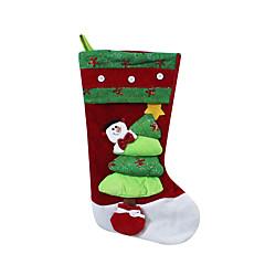 Božićne igračke Poklon vrećice Blagdanske potrpštine 3Pcs Božić Tekstil Obala Bijela Zlatna