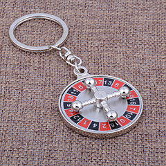 Rostfritt Stål Nyckelrings Favors-1 Piece / Set Nyckelband Vegas Theme Personlig Silver