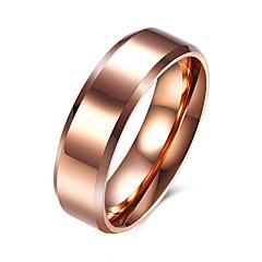 Heren Ring Eenvoudige Stijl Europees Kostuum juwelen Roestvast staal Titanium Staal Sieraden Voor Feest Dagelijks Causaal