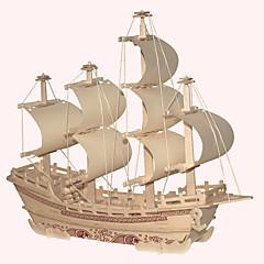 jigsaw zagonetke Drvene puzzle Građevni blokovi DIY igračke Poznata zgrada Kineska arhitektura Brod 1 Drvo KristalneIgračka model i