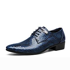גברים-נעלי אוקספורד-עור-אחר-שחור כחול-משרד ועבודה-עקב שטוח