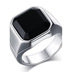 Heren Statementringen Ring Onyx Modieus Kostuum juwelen Roestvast staal Agaat Sieraden Voor Dagelijks Causaal