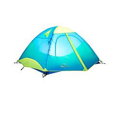 MOBI GARDEN® 3-4 사람 텐트 더블 베이스 자동 텐트 원 룸 캠핑 텐트 옥스퍼드 방수 호흡 능력 자외선 저항력 비 방지 바람 방지 따뜻함 유지 울트라 라이트 (UL) 폴더 휴대용-하이킹 캠핑 여행 야외