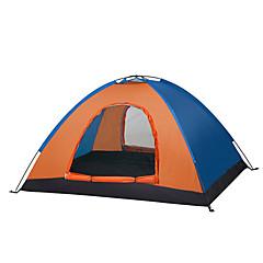 עמיד למים נשימה עמיד לאבק עמיד ברוח קל במיוחד(UL) פלנל מרופד נגד יתושים מתקפל נייד חדר אחד אוהל כחול כתום