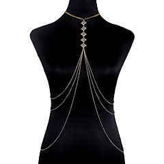 Bijuteria de Corpo/Cadeia corpo / Cadeia de barriga Liga Forma Geométrica Moda Estilo Boêmio Dourado 1peça