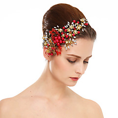 נשים ריינסטון דמוי פנינה כיסוי ראש-חתונה אירוע מיוחד פרחים חלק 1