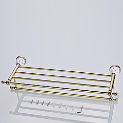 European Style Solid Brass Crystal Gold Bathroom Shelf  Bathroom Accessories