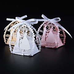 50pcs/lots bride and groom wedding favor box candy box