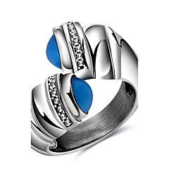 Prstýnky Párty Denní Ležérní Sport Šperky Titanová ocel Dámské Prsteny s kamenem Prsten 1ks,6 7 8 9 Viz fotografie